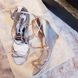 Badgley Mischka Silver Wedge